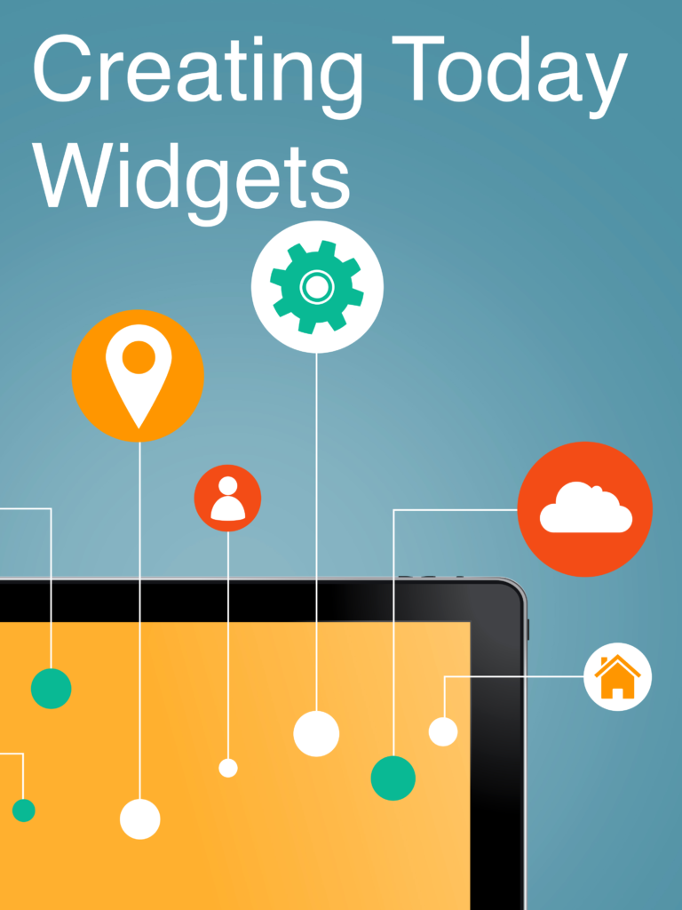 Today widgets are small view controllers that your users can add to their 'Today' view. They are good for displaying the most relevant information to your users.